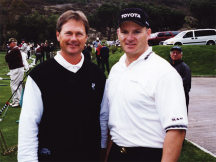 "John Cook (PGA tour player) - ""The Hit Man's athletic ability is incredible.  A unique and entertaining experience."""